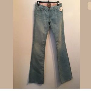 NWT $205 RICH & SKINNY Cotton Blue Boot Cut jeans